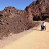 Stabilized natural surface for 2.2 miles through the five tunnels on the Historic Railroad Trail at Lake Mead.