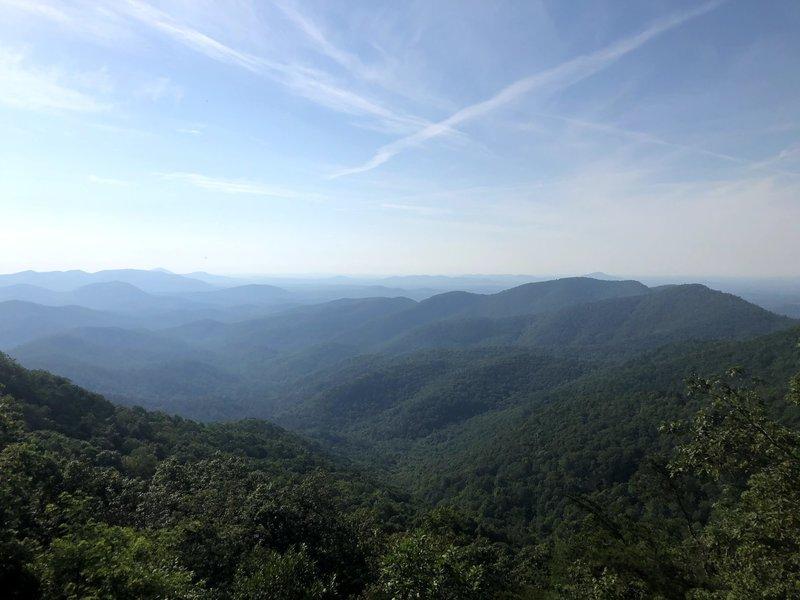 View from Preacher's Rock (Big Cedar Mt. near Woody Gap)