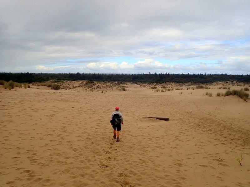 Crossing the dunes toward the beach
