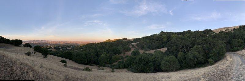 Looking east towards San Ramon.