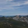 From left to right: Mount St Helens, Mount Rainier, Mount Adams, Mount Hood