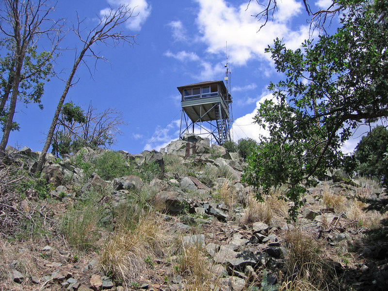 Spruce Mountain Lookout Tower at the apex of the Groom Creek Loop Trail