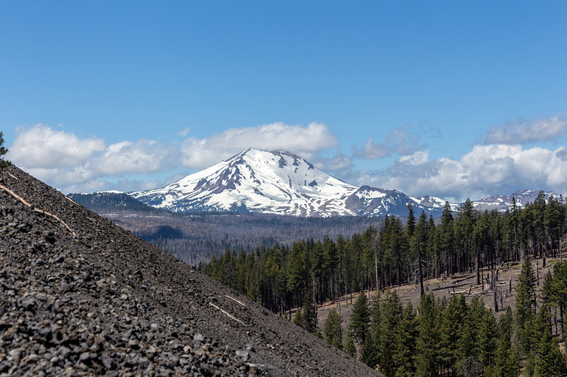 Lassen Peak from the the demanding ascent on Cinder Cone