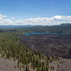 Butte Lake from the rim of Cinder Cone