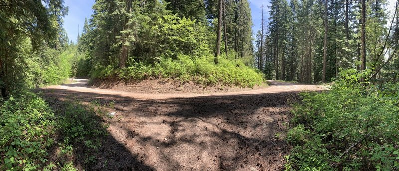 A panorama shot of the end of Trail 26