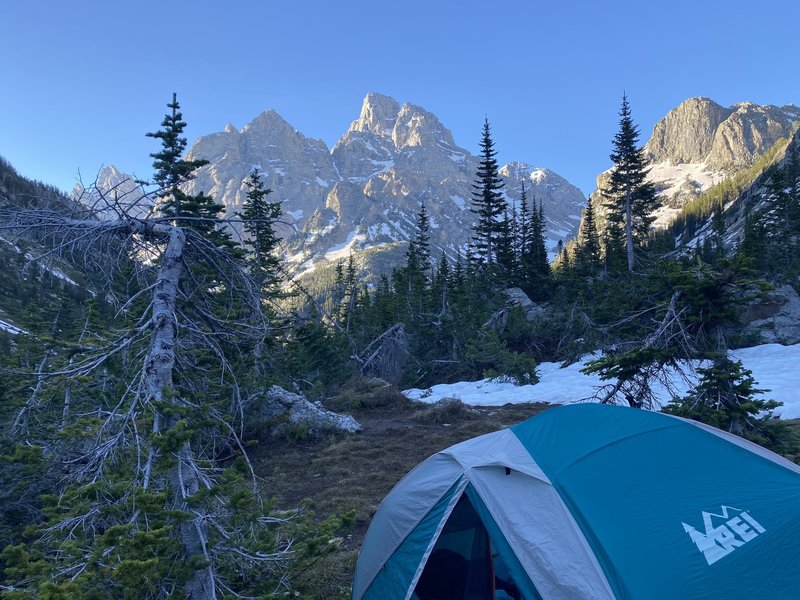 Morning in the lowest campsites. June 2020.