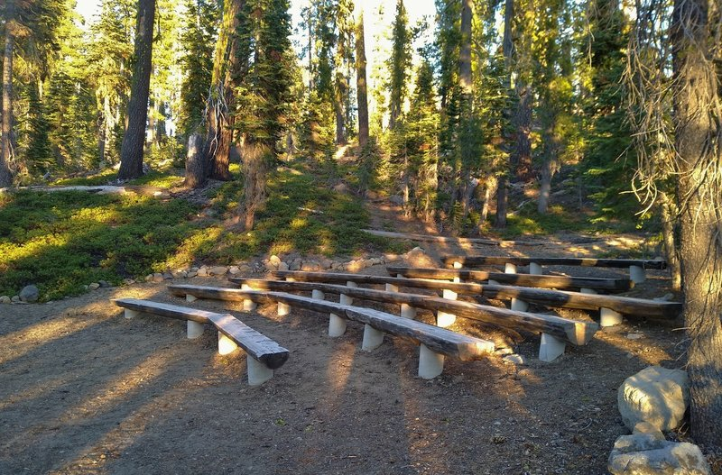 Summit Lake Campgrounds' outdoor amphitheater.
