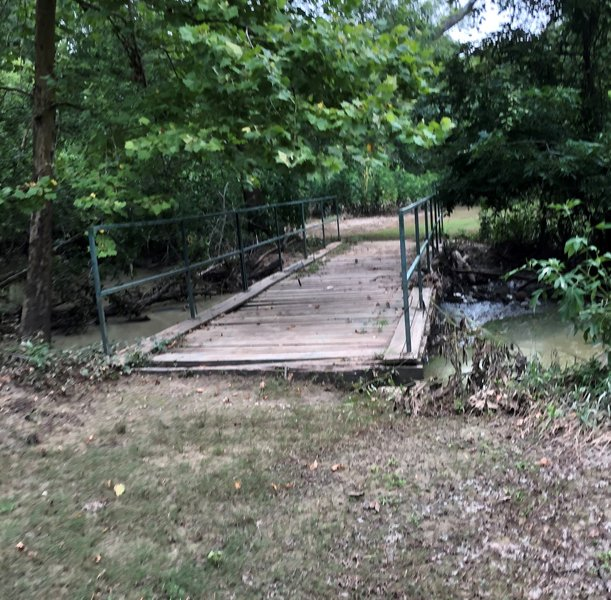 Bridge over Bear Creek on north end of Equestrian and Nature Trail West Loop.