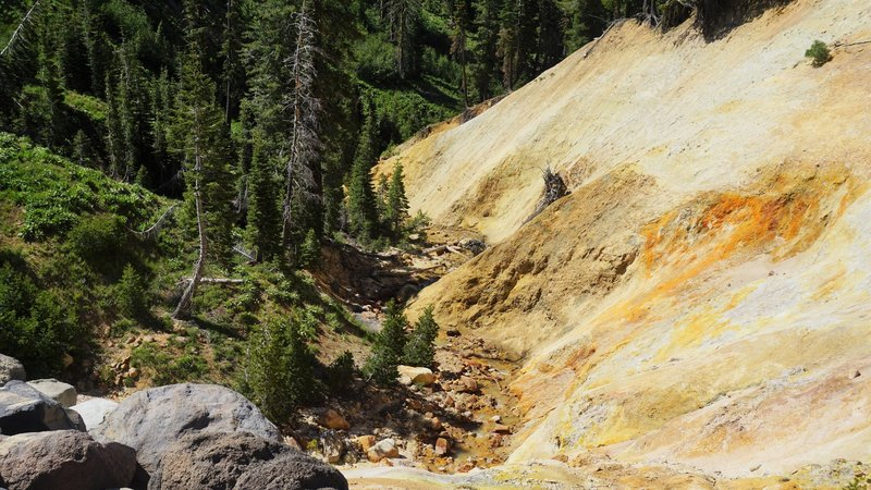 View of Sulphur Creek from the main sidewalk.