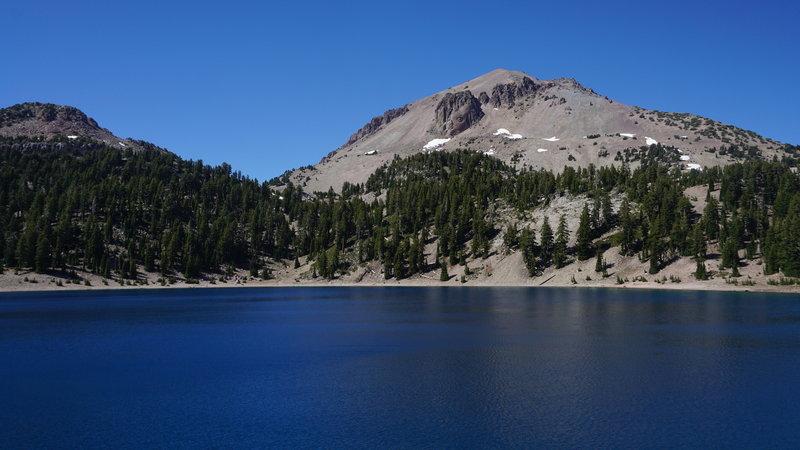 Lassen Peak from Lake Helen.