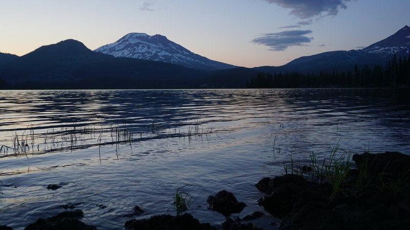 South Sister at sunset from Sparks Lake.