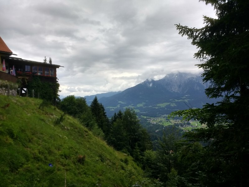 A view of Ramsau valley past Söldenköpfl Restaurant