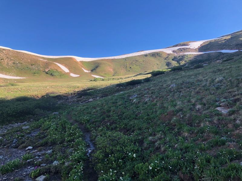 The ridge leading up to Hagar Mountain.
