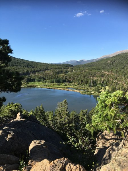 Overlooking Lily Lake from Lily Trail