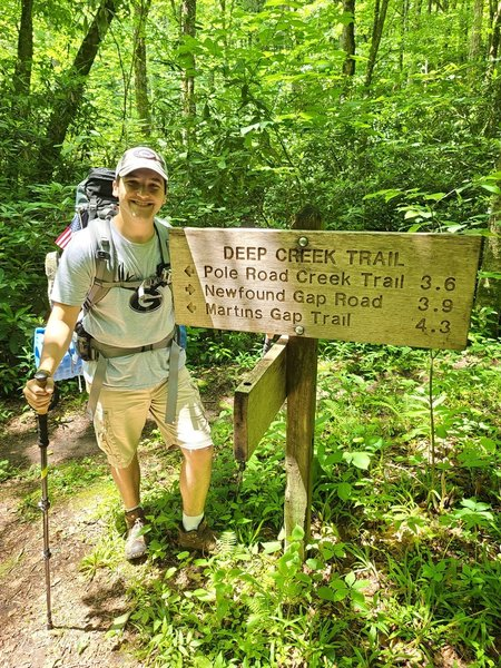 Trail Crossing on Deep Creek Trail.