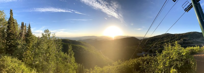 Sunrise on the Mid Mountain Trail