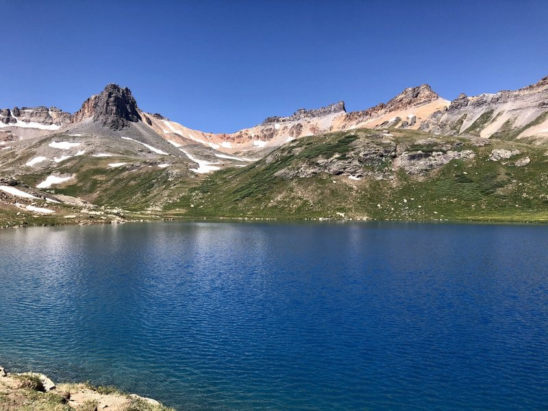 View of Ice Lake in mid-July with clear skies