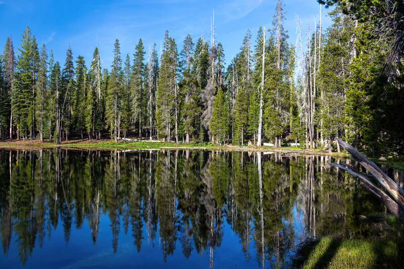 Morning reflections in Summit Lake