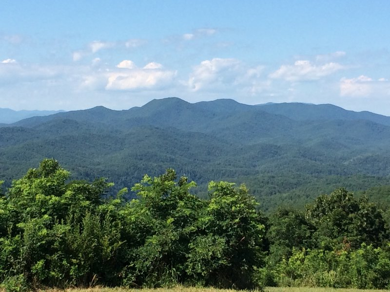 View from the top of Buck Bald July 14 2020