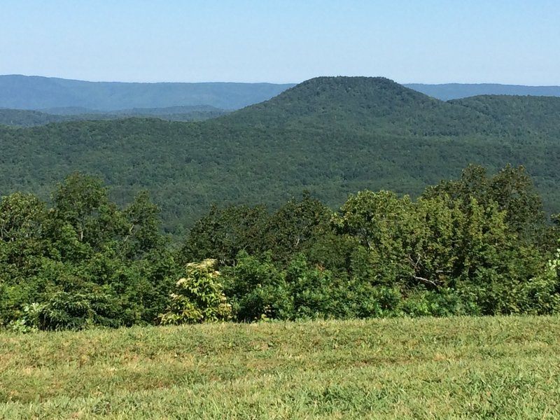What is that flat mountain as seen from the top of Buck Bald?