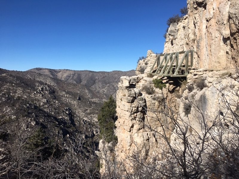 Cliffside bridge
