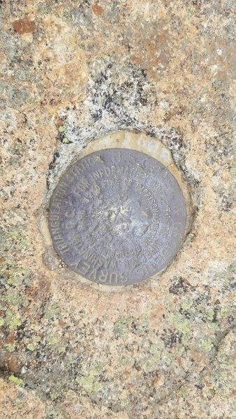 National Geodetic Survey Marker ca 1958 5,249' Mt. Lafayette Summit