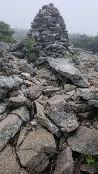 Just past the Mt. Lafayette summit along the Greenleaf Path rock trail was loose and often very unstable footing.