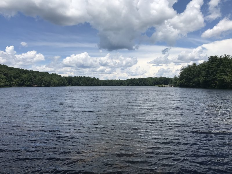 Lake Wintergreen from its southern tip.