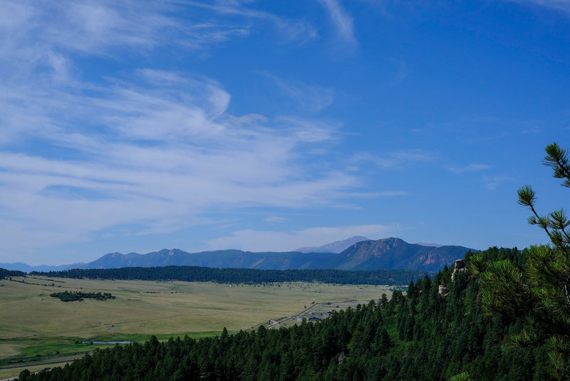 Looking south to Pikes Peak.