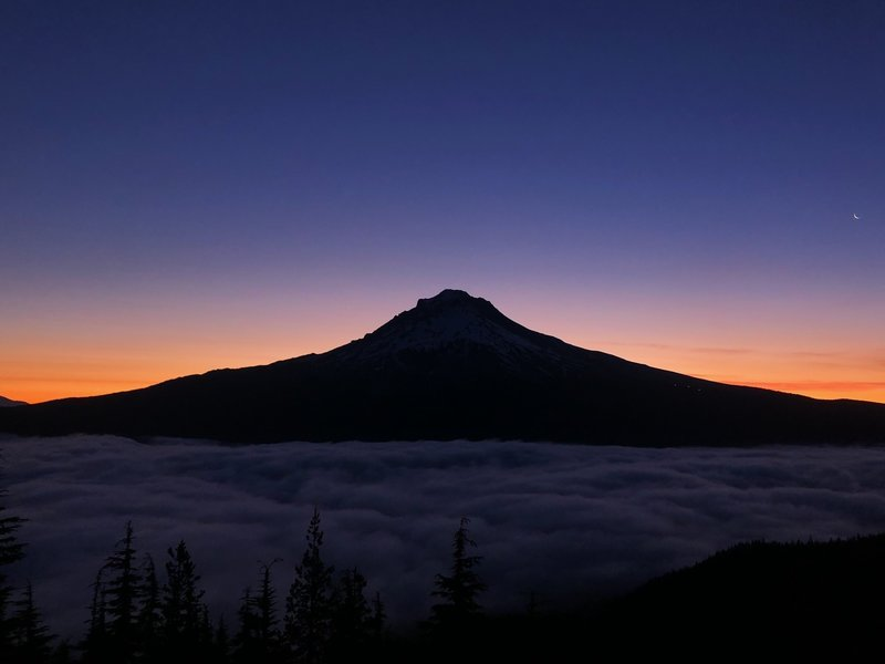 Sunrise over Mt. Hood.