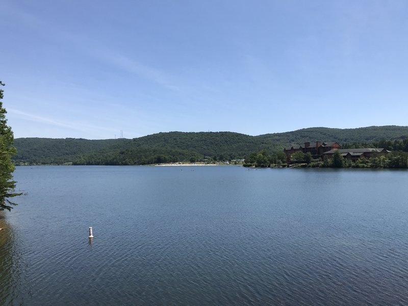 View across Lake Habeeb.