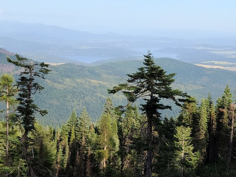 View of Lake Coeur d'Alene from near the summit.