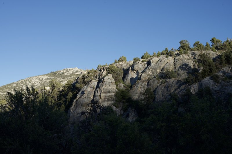 The Grey Cliffs that the campground takes its name from.