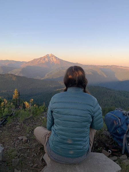 Looking at Mount Jefferson