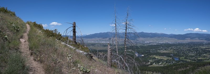 Trail with Missoula valley to the north.