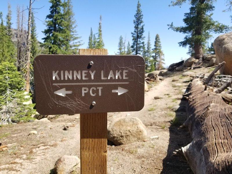 Go straight for Upper Kinney Lake.