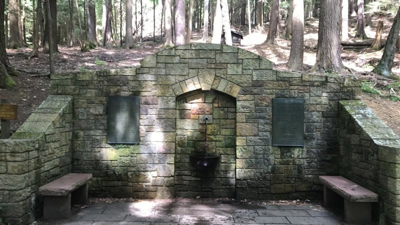 Cook Forest Memorial Fountain.