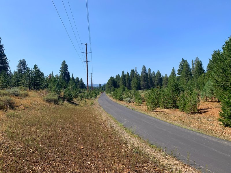 Walking West on the Overland Trail Connector.