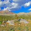 Spectacular afternoon views are better on the Golden Trout Trail compared to the Piute Trail