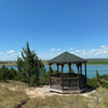 Lentzen Gazebo overlooking Cedar Point Biological Station and Lake Ogallala