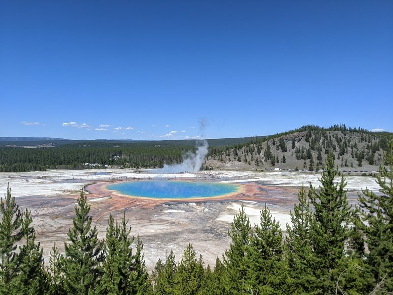 View of Grand Prismatic Spring from Overloop