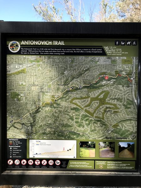 Antonovich Trail Map