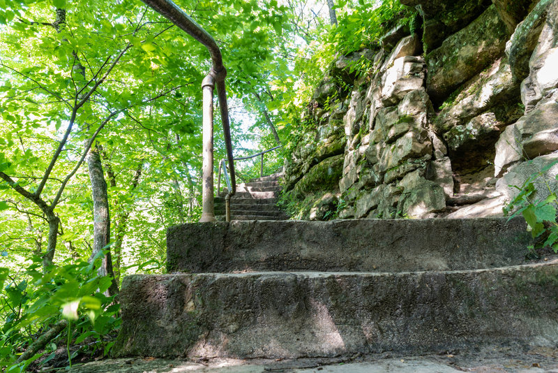 Minneopa Falls stairway.