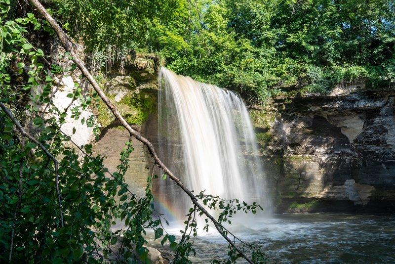 Minneopa Falls from the river below.