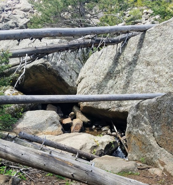 Tree Fall and Boulders creating obstacles for the stream flow