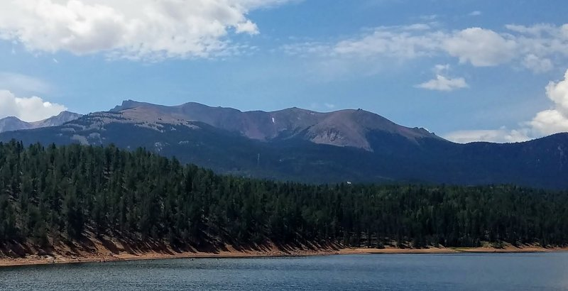 South Catamount Reservoir with Pikes Peak in the background