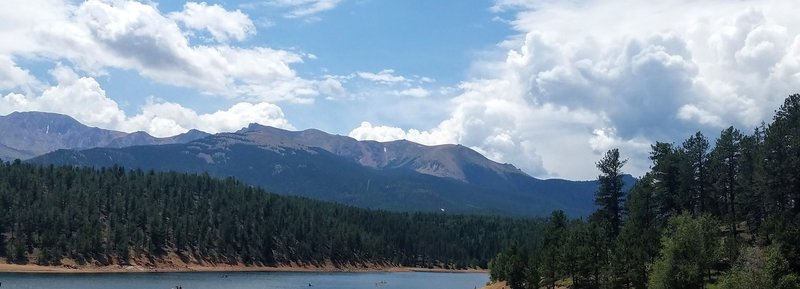 From the shore of South Catamount Reservoir to Pikes Peak