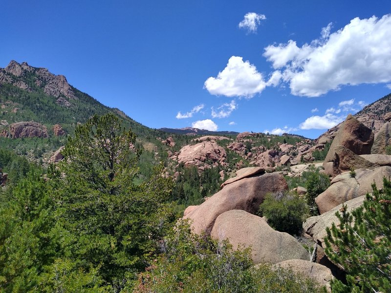 Looking west from the Lost Creek's central canyon