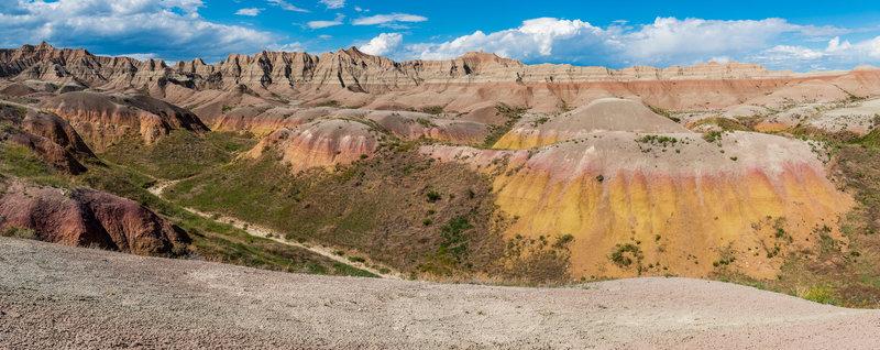 Yellow mounds overlook.