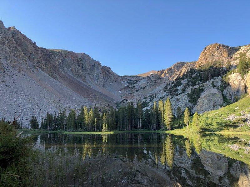 Fern Lake at sunrise.